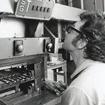 Center Industries employee from 1970s.