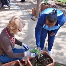 CPRF Adult Day Services client gardening