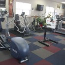 Our therapy room has a variety of equipment to help create a custom exercise regime for each client.