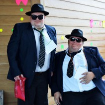 Two residents are dressed as the Blues Brothers at Timbers Fall Fest 2013: Totally 80s at the Timbers.