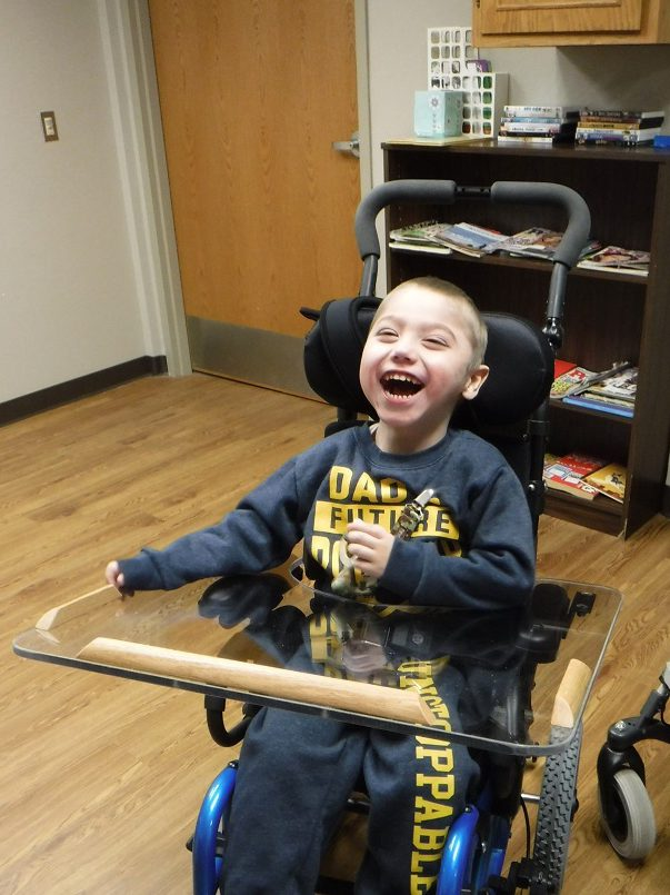 Wheelchair Clinic Client smiling