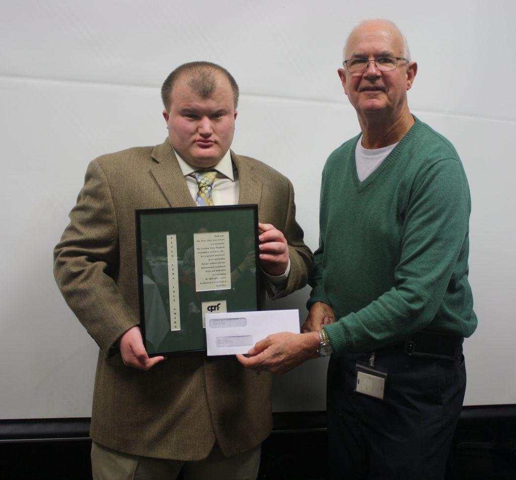 Logan Davis, 2017 Peter John Loux Award Winner pictured with Pat Terick, Director of Governmental Activities.