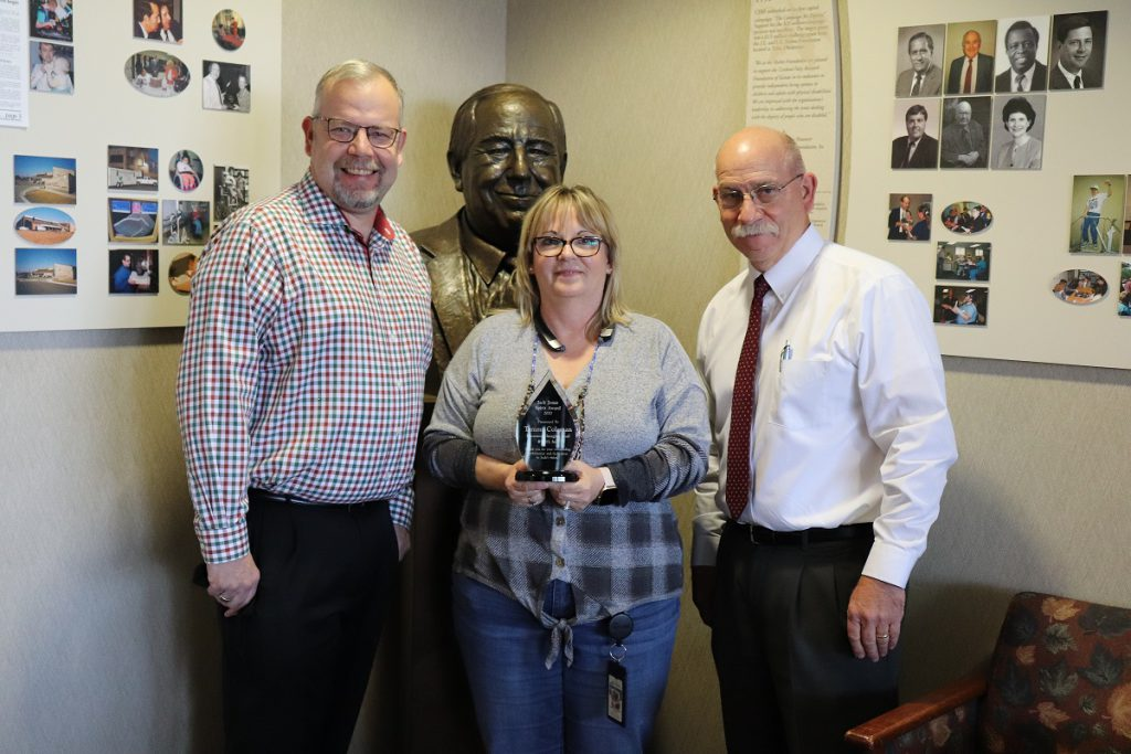 From left to right: Rich Stinnett, BTCO President, Tammy Coleman, BTCO Document Imaging Lead, and Patrick T. Jonas, CPRF President & CEO.