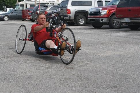 Robert handcycling for fundraiser